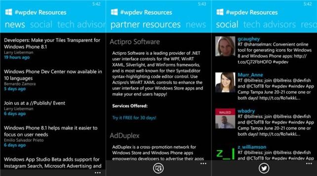 #wpdev app για Windows Phone 8 και Windows 8 developers