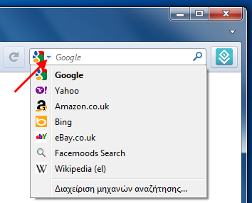 Firefox choose search engine