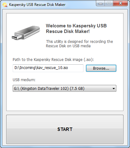 Kaspersky USB Maker