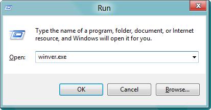 Run Command winver