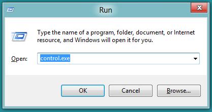 control panel run