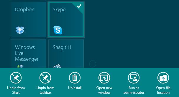 desktop tile app bar