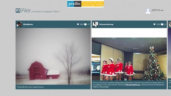 Piktr, ένας όμορφος Instagram viewer για τα Windows 8