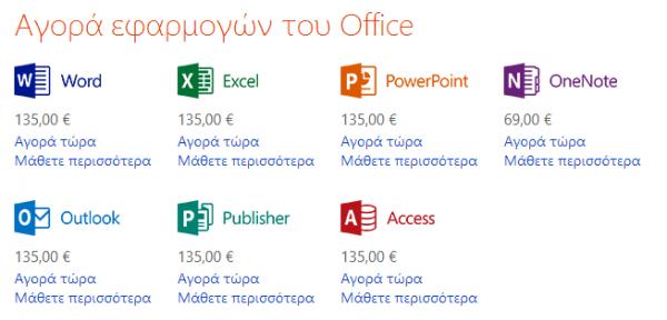 Office 2013 και Office 365, οι τιμές και οι διαθέσιμες εκδόσεις