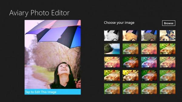 Aviary Photo Editor, επεξεργασία φωτογραφιών στα Windows 8/RT