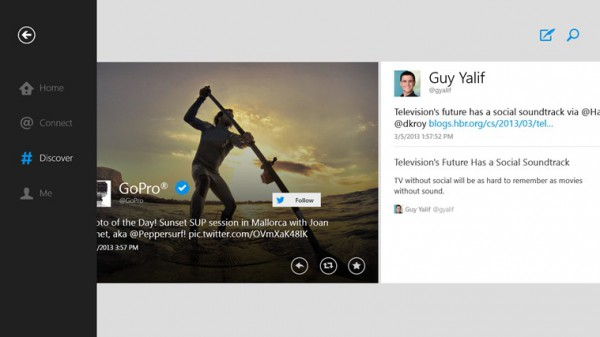 Το επίσημο Twitter app διαθέσιμο για τα Windows 8 και Windows RT