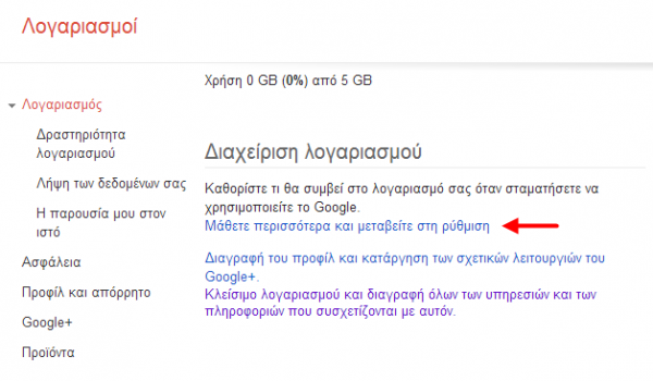 Google Inactive Account Manager, το Gmail μετά το θάνατο σου