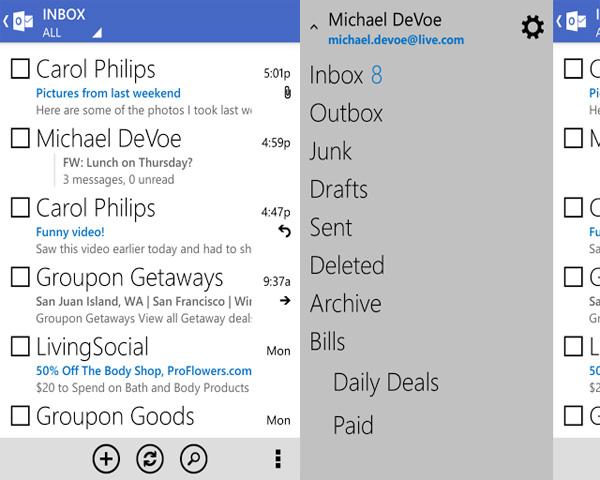 Outlook.com app για Android, ανανεώθηκε και φόρεσε τα καλά του