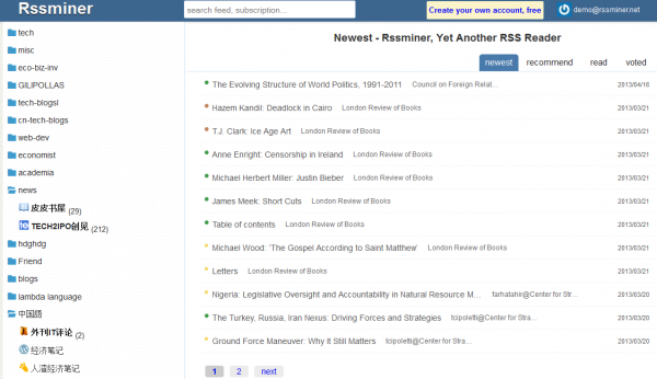 10 εναλλακτικοί RSS Readers για την αντικατάσταση του Google Reader