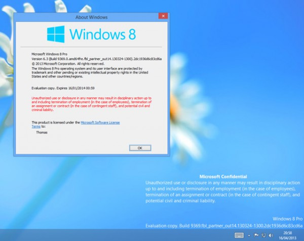 Νέο leak για τα Windows 8.1 Blue Build 9369