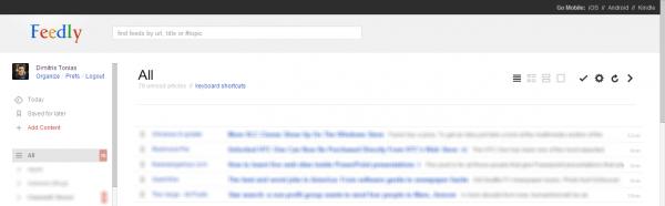 Feedly Reader, το Feedly αποκτά εμφάνιση Google Reader