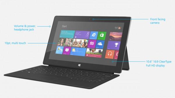 Τα τεχνικά χαρακτηριστικά του Microsoft Surface Pro
