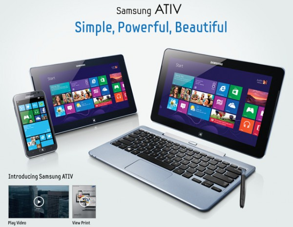Samsung Ativ το νέο όνομα για Windows PC, tablets και Windows Phone smartphones