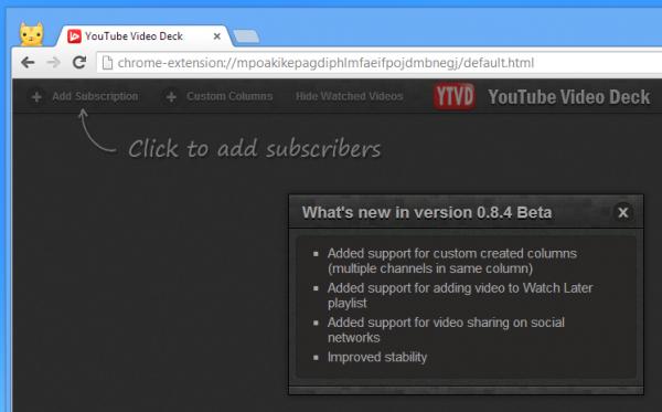 YouTube Video Deck, οργανώστε τις εγγραφές των καναλιών σαν TweetDeck