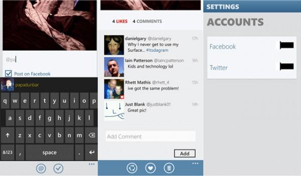 Instance, τα Windows Phone 8 αποκτούν σχεδόν Instagram