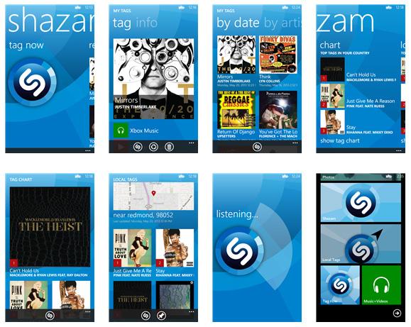 Shazam app για Windows Phone 8, νέα έκδοση με απεριόριστα tags