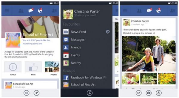 Facebook 5.0, νέα έκδοση για Windows Phone 8