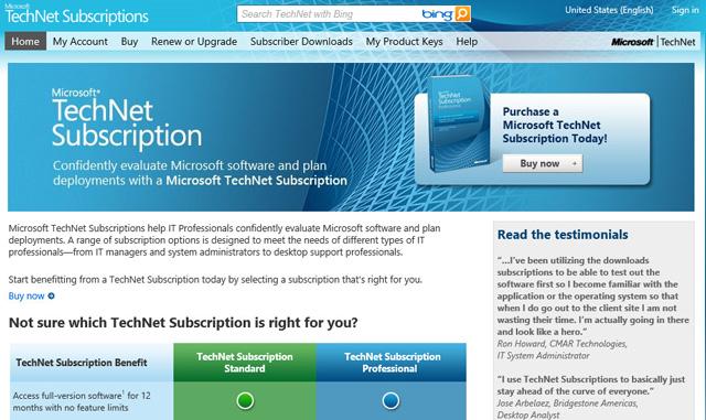 Microsoft Technet, τέλος στις συνδρομές από το καλοκαίρι 2013