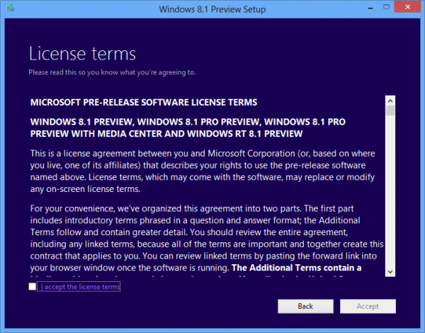 Windows 8.1 Preview, αναβάθμιση από το αρχείο .iso