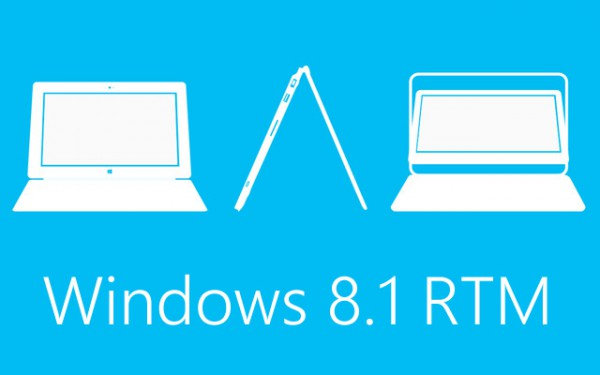 Windows 8.1 RTM, έρχεται στο τέλος Αυγούστου για τους κατασκευαστές