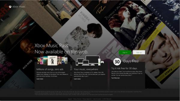 Xbox Music για το web, τώρα ακούς μουσική παντού