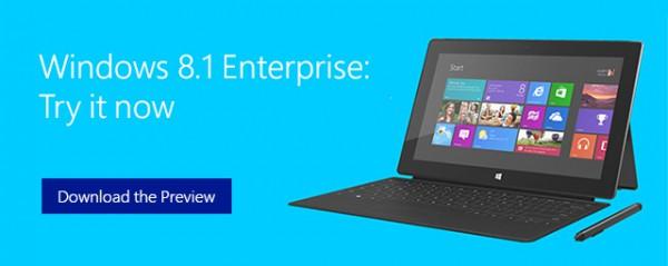 Windows 8.1 Enterprise Preview, νέα έκδοση με στόχο τις επιχειρήσεις