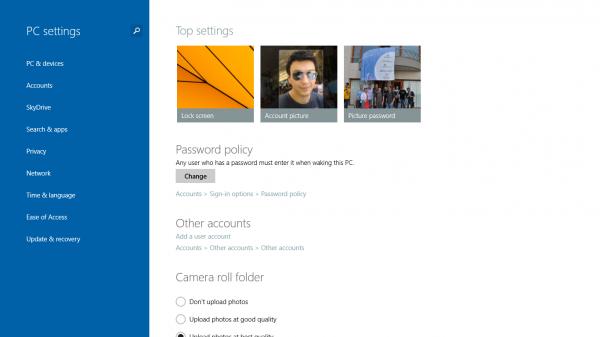 Windows 8.1 Preview PC Settings, ο Πίνακας Ελέγχου τώρα στο νέο περιβάλλον