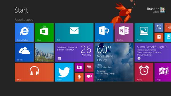 Windows 8.1 Preview, αναβάθμιση από το Windows Store