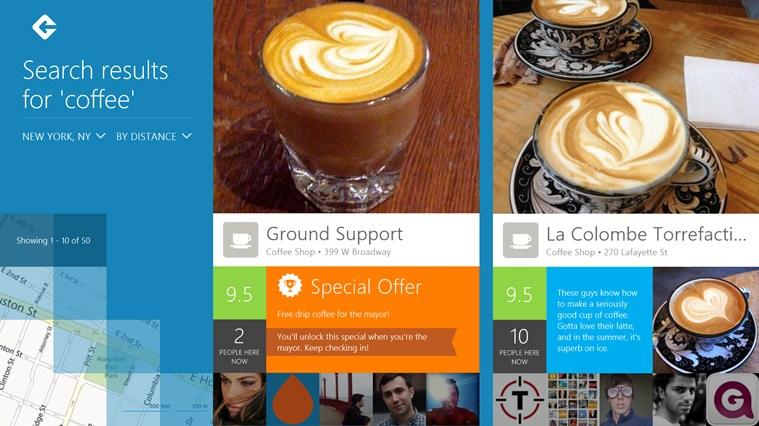 Το Foursquare ήρθε στο Windows Store, check-ins παντού