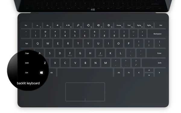 Touch Cover 2 για το νέο Surface 2 με backlit πλήκτρα, πιο λεπτό από ποτέ