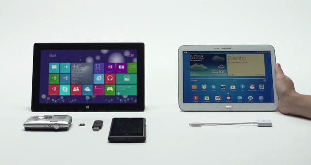 Microsoft Surface 2 εναντίον Samsung Galaxy Tab σε 2 νέες διαφημίσεις
