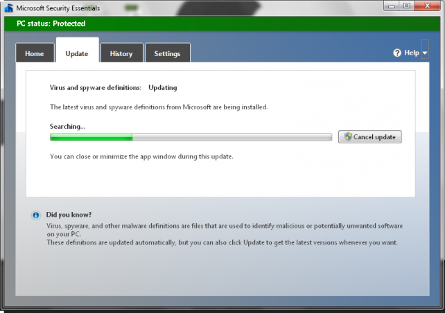Security Essentials, παράταση ενημερώσεων για Windows XP έως το 2015