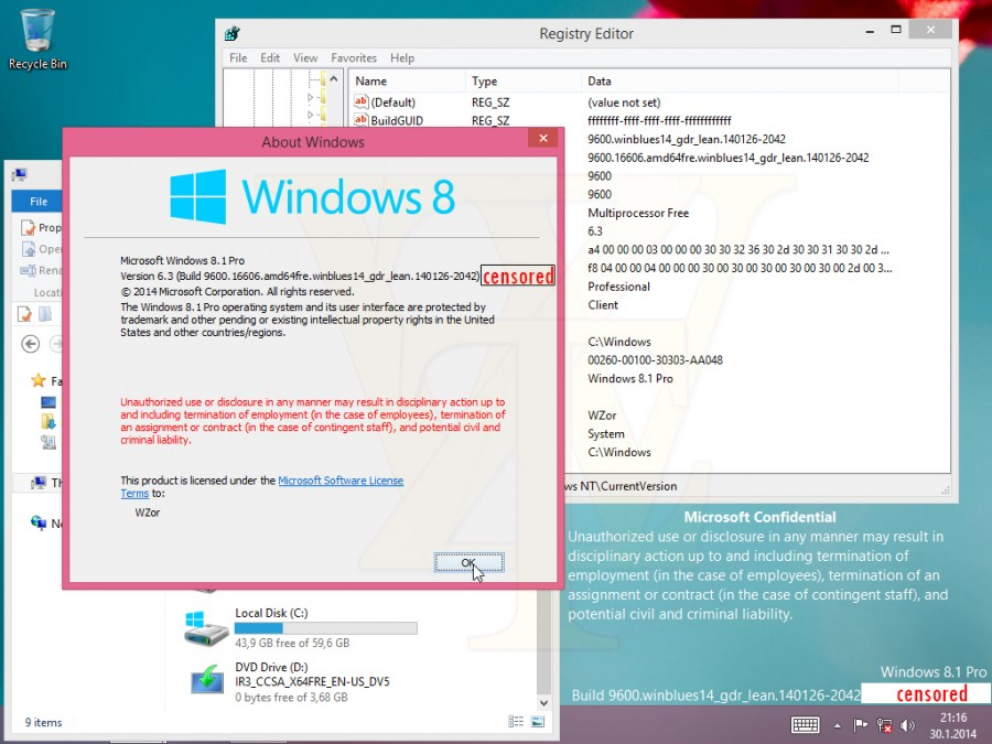 Windows 8.1 Update 1 leak, το desktop ζει