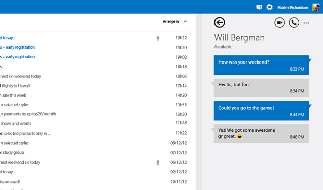 Το Skype ήρθε στο Outlook.com, μηνύματα και HD βίντεο-κλήσεις από παντού