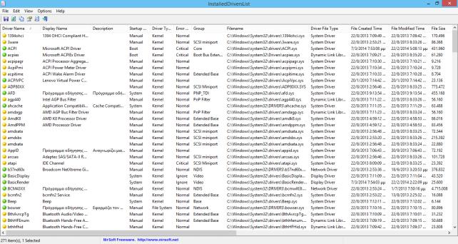 InstalledDriversList, βρείτε τους εγκατεστημένους drivers του υπολογιστή σας