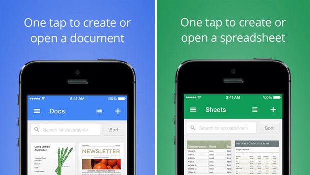 Docs και Sheets apps, το Office της Google σε Android και iOS