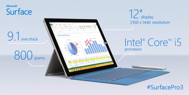 Surface Pro 3, η Microsoft παρουσίασε το νέο tablet με βελτιωμένα χαρακτηριστικά