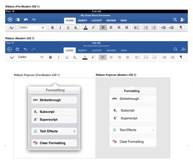 Office for iPad, πώς σχεδιάστηκαν Word, Excel και PowerPoint στο iOS 7