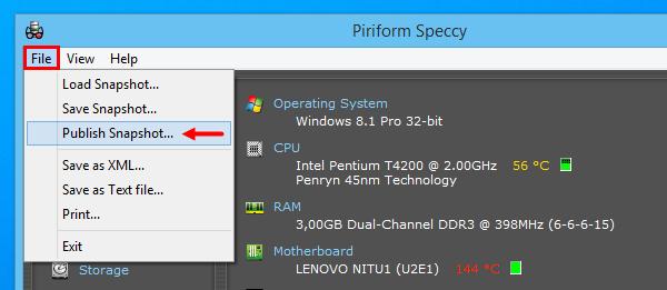 Speccy, τα πάντα για το hardware του υπολογιστή σου