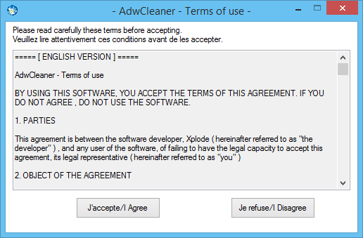AdwCleaner, αφαίρεση adware, toolbars και ανεπιθύμητων προγραμμάτων