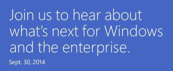 Windows 9, η πρώτη παρουσίαση στις 30 Σεπτεμβρίου 2014