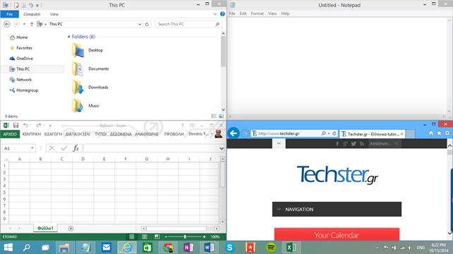 Δοκιμάζοντας τα Windows 10: Snap View και Snap Assist