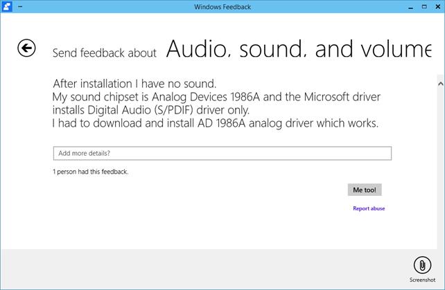 Πώς να δώσετε feedback στη Microsoft για τα Windows 10 Technical Preview