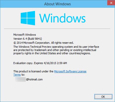 Windows 10 Technical Preview, η περίοδος χρήσης λήγει στις 15 Απριλίου 2015