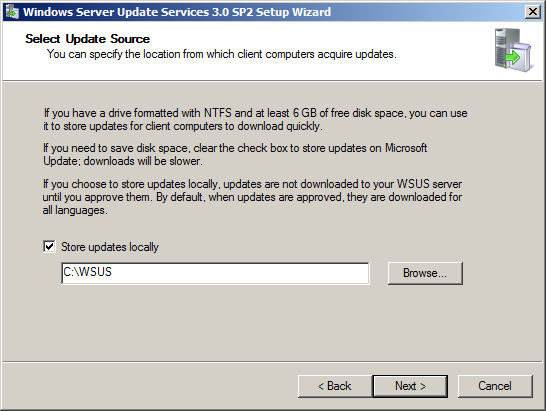 Εγκατάσταση Windows Server Update Services (WSUS) στον Windows Server 2008 R2