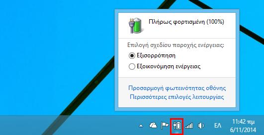 Κλείσιμο υπολογιστή από το κουμπί Power στα Windows 8/8.1