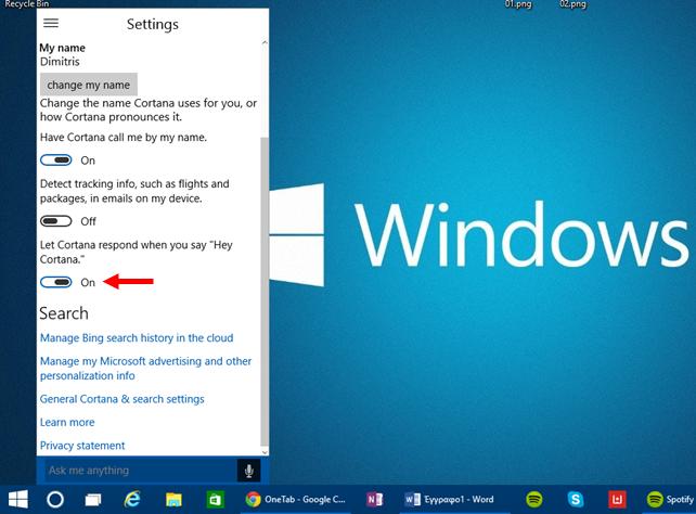 Ενεργοποιήστε το Hey Cortana στα Windows 10 build 9926