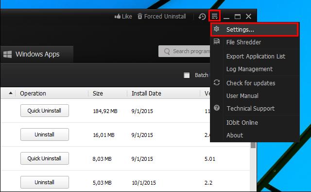 Αλλαγή γλώσσας εμφάνισης στο IObit Uninstaller 4