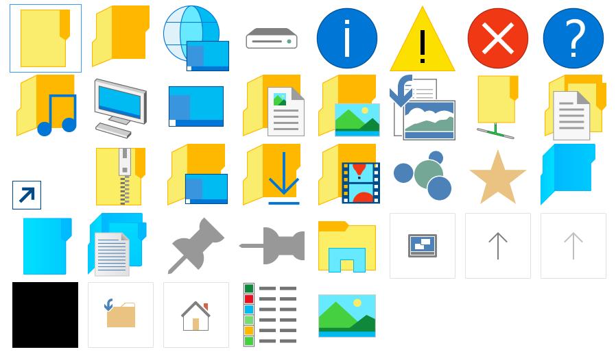 Αλλαγές σε 37 εικονίδια στο build 9926 των Windows 10