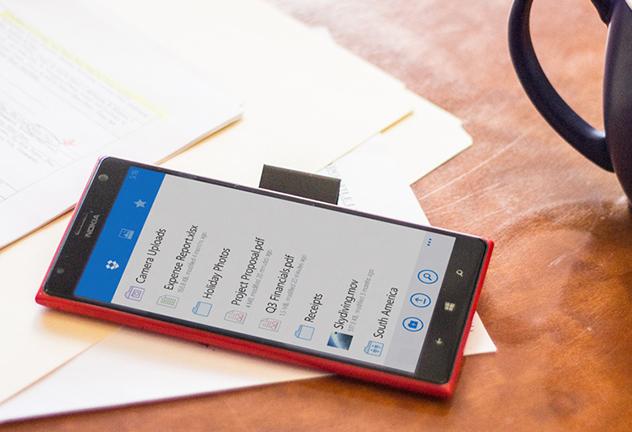 Dropbox, αποστολή φωτογραφιών από τα Windows Phone 8.1
